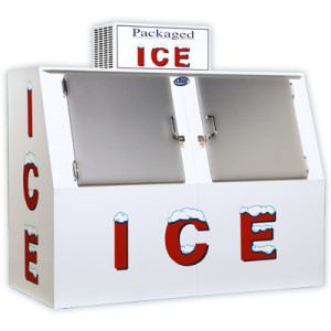Solid Door Slanted Retail Ice Machine